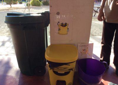 Adquisición de contenedores adecuados para cada tipo de reciclado.