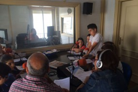 Primera visita a Radio Albolote